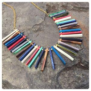 Anthropologie Fringe Necklace